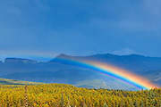 Rainbow and storm clouds along the Bow Valley<br />