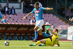 April 8, 2018 - Naples, Italy - Marques Loureiro Allan (SSC Napoli)..during the Italian Serie A football SSC Napoli v Chievo Verona at S. Paolo Stadium..in Naples on April 08, 2018  (Credit Image: © Paolo Manzo/NurPhoto via ZUMA Press)