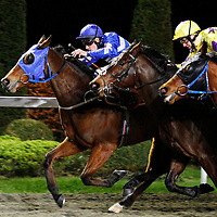 Cadeaux Pearl and Ryan Powell winning the 5.15 race