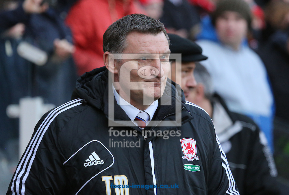 Picture by Paul Gaythorpe/Focus Images Ltd +447771 871632.26/01/2013.Middlesbrough manager Tony Mowbray before the FA Cup match at the Riverside Stadium, Middlesbrough.
