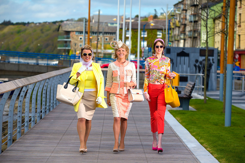 "14/06/2013. Free to use image. Free to use images; 'Sixties Chicks' Mary Baron (left) and Jenni Delaney (right) with celebrity stylist Marietta Doran (Center) who will judge the most appropriately dressed lady competition for New Ross 63 on June 27 - the very day President John F. Kennedy visited the town in 1963. Picture: Patrick Browne<br /> <br /> New Ross Town Goes 'Back to the Future'<br /> Entire Town transported to 1963<br />  <br /> Visitors to the town of New Ross this June 27 will be in for a trip down memory lane, as the town's shops, people and streets will be transformed to how they looked in 1963. The date is fifty years to the very day President John F. Kennedy visited the town in 1963 and organiser's say they are hosting this event as part of the JFK50 Homecoming Celebrations the New Ross and District Chamber in association with Experience New Ross & Hook Peninsula.<br />  <br /> Celebrity stylist Marietta Doran was on hand today Friday, June 14 in New Ross to help launch details of the events on June 27 and announce the 'Most Appropriately Dressed Lady' competition which is due to take place on the day.<br />  <br /> The 'Most Appropriately Dressed Lady' competition will take place in the New Ross Town Park with top TV personality and stylist Marietta Doran. Commenting on the competition Marietta said, ""I'm delighted to be part of the Jfk50 celebrations particularly as my mum is from New Ross. The most appropriately dressed lady competition will be of the 60's era.<br />  <br /> Offering some tips on how to dress for the competition Marietta said, ""Try as best as possible to stay with the theme and I love that we are going to give a salute to the Jackie O style but I love the fact we are also giving a nod to the Woodstock look - so I look forward to seeing all the style from hippies chicks to very elegant looks. There are some wonderful boutiques and I'm a big fan of shopping local. Wexford ladies are always very stylish.<br />  <br /> Commenting on the JFK 50 and New Ross Town Marietta said, ""New Ross i"