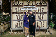 Aba and his wife in the lower village. The customs in this village are not practiced as much as in Cipta Gelar. In Sinar Resmi, there are more signs of modern life affecting the village life.