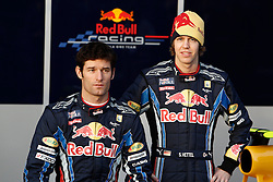 JEREZ DE LA FRONTERA, SPAIN - Wednesday, February 10, 2010: Mark Webber and Sebastian Vettel (Red Bull Racing) during testing at the Circuito de Jerez. (Pic by Juergen Tap/Propaganda/Hoch Zwei)