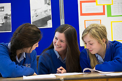 Eve Mooney (17), Navan Road, Cara O'Donoghue (16), Castleknock and Anna Greville (16), Castleknock students of Mount Sackville, Castleknock pictured at SciFest@ITB 2014. Picture Andres Poveda