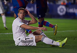 February 24, 2019 - Valencia, U.S. - VALENCIA, SPAIN - FEBRUARY 24: Lucas Vazquez, forward of Real Madrid CF reacts during the La Liga match between Levante UD and Real Madrid CF at Ciutat de Valencia stadium on February 24, 2019 in Valencia, Spain. (Photo by Carlos Sanchez Martinez/Icon Sportswire) (Credit Image: © Carlos Sanchez Martinez/Icon SMI via ZUMA Press)