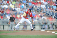 Mississippi's Christian Trent (47) pitches vs. Texas Tech at T.D. Ameritrade Park in the College World Series in Omaha, Neb. on Tuesday, June 17, 2014. Ole Miss won 2-1.