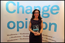 New York Times Reporter Jodi Kantor with her new book The Obamas A Mission A Marriage at a book launch in Central London, Monday January 23, 2012. Photo By Andrew Parsons/ i-Images