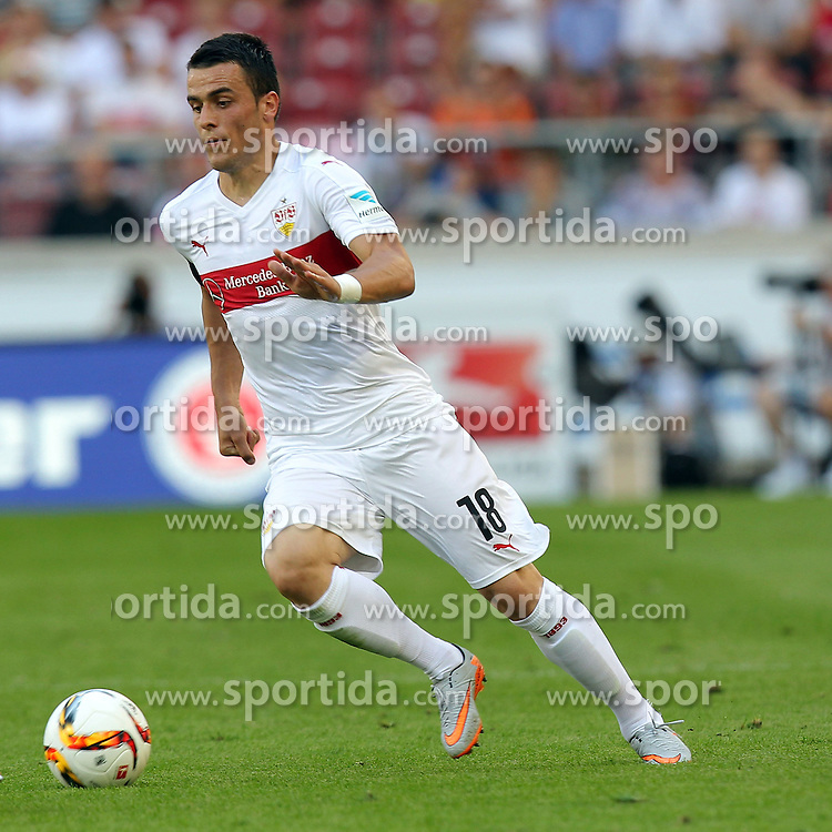 29.08.2015, Mercedes Benz Arena, Stuttgart, GER, 1. FBL, VfB Stuttgart vs Eintracht Frankfurt, 3. Runde, im Bild Filip Kostic ( VfB Stuttgart ) // during the German Bundesliga 3rd round match between VfB Stuttgart and Eintracht Frankfurt at the Mercedes Benz Arena in Stuttgart, Germany on 2015/08/29. EXPA Pictures &copy; 2015, PhotoCredit: EXPA/ Eibner-Pressefoto/ Langer<br /> <br /> *****ATTENTION - OUT of GER*****