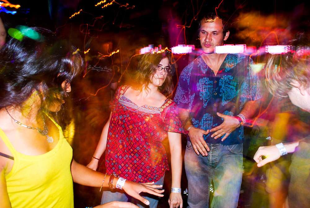 Dancing at JELLY Pool Party's after party at Brooklyn Bowls, Williamsburg, Brookyn, New York