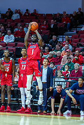 NORMAL, IL - December 18: Marcus Ottey shoots for 3 during a college basketball game between the ISU Redbirds and the UIC Flames on December 18 2019 at Redbird Arena in Normal, IL. (Photo by Alan Look)
