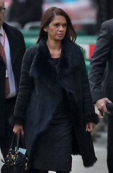 © Licensed to London News Pictures. 06/12/2016. London, UK. Campaigner Gina Miller arrives at the Supreme Court on the second day of a hearing to appeal against a November 3 High Court ruling that Article 50 cannot be triggered without a vote in Parliament. Photo credit: Peter Macdiarmid/LNP