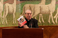 "ROME, ITALY - NOVEMBER 11:  Msgr. Enrico Feroci, director of Caritas Rome during the meeting for the beginning of the pastoral year where the Caritas of Rome presents the Report ""Poverty in Rome: a point of view""on November 11, 2017 in Rome, Italy. (Photo by Stefano Montesi)"