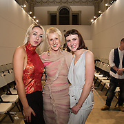 13.06.2016               <br /> Anne Melinn, LSAD centre pictured with pictured with Niamh Ciara Murray winner of a €2,000 bursary for demonstrating the most unique cut and technical creativity in her collection entitled Gozan (left) and Liadán Scott Keogh winner of the IFIL, AIB Graduate Business Development Award worth €5,000 which includes a three-month paid work experience with leading London-based Irish Fashion Designer Richard Malone at the much anticipated Limerick School of Art & Design, LIT, (LSAD) Graduate Fashion Show on Thursday 12th May 2016. <br /> <br /> The show took place at the LSAD Gallery where 27 graduates from the largest fashion degree programme in Ireland showcased their creations. Ranked among the world's top 50 fashion colleges, Limerick School of Art and Design is continuing to mold future Irish designers.<br /> Picture: Alan Place/Fusionshooters