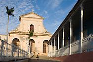 The Iglesia Parroquial de la Santisima Trinidad (Holy Trinity Church) in the Plaza Mayor of the UNESCO World Heritage site, Trinidad, Cuba