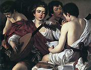 The Musicians'  c1595:  Michelangelo Merisi de Caravaggio (1573-1610) Italian painter.  Oil on canvas.