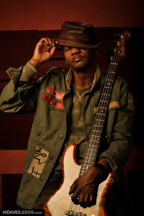 August 13, 2008: A portrait of bass player Victor Bailey in Brooklyn, NY by photographer M David Leeds.