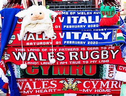 A general view outside of Principality Stadium, home of Wales <br /> <br /> Photographer Simon King/Replay Images<br /> <br /> Six Nations Round 1 - Wales v Italy - Saturday 1st February 2020 - Principality Stadium - Cardiff<br /> <br /> World Copyright © Replay Images . All rights reserved. info@replayimages.co.uk - http://replayimages.co.uk