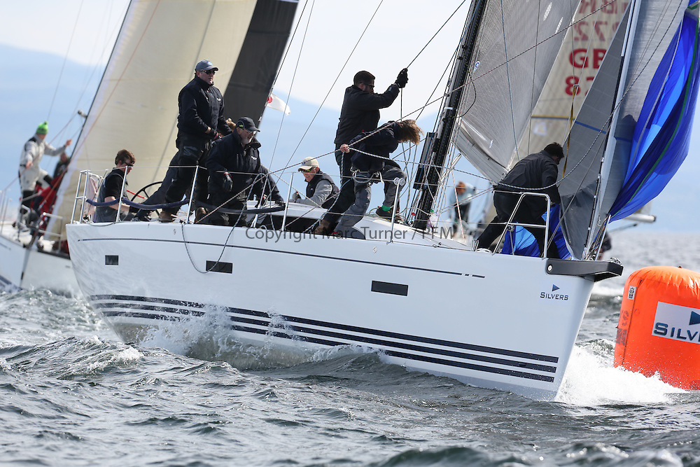 The Silvers Marine Scottish Series 2014, organised by the  Clyde Cruising Club,  celebrates it's 40th anniversary.<br /> Day 2, GBR8038R, Roxstar, J Anderson/M Findlay, CCC, XP38i<br /> Racing on Loch Fyne from 23rd-26th May 2014<br /> <br /> Credit : Marc Turner / PFM