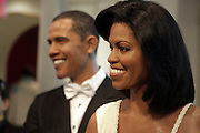 President Barack Obama(wax figure) and First Lady Michelle Obama (wax figure)at Madame Tussaud's unveiling of The First Lady Michelle Obama's likeness held at Madame Tussaud's on January 26, 2010 in New York City.