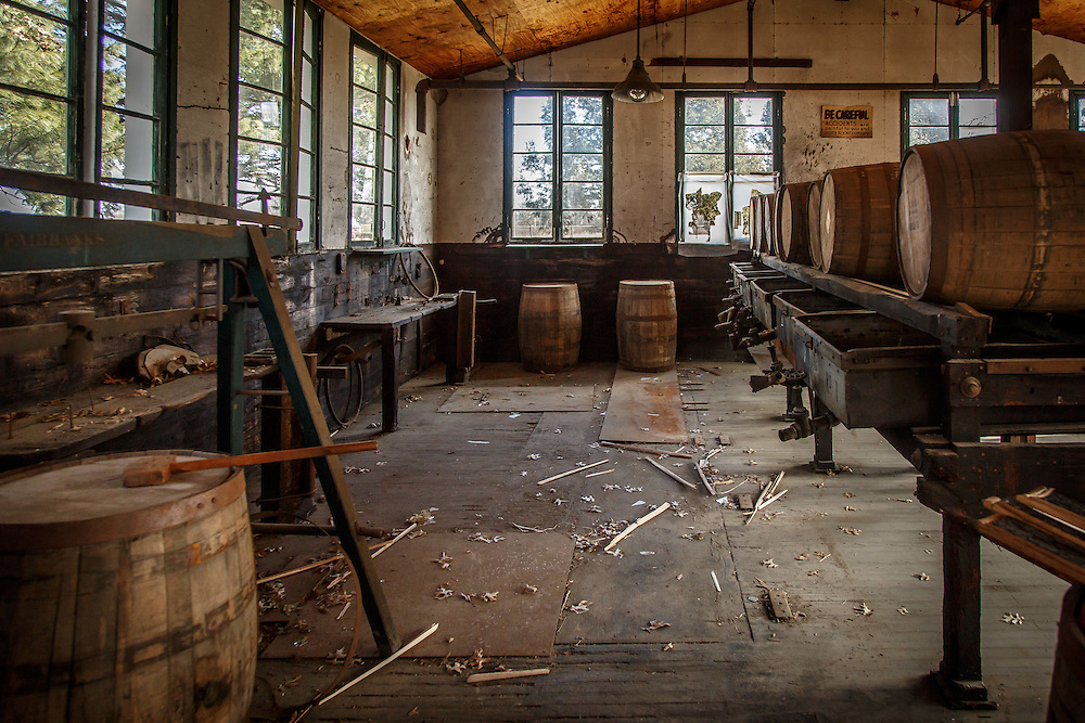 The barrel repair facilities at Stitzel-Weller Distillery in the Shively area of Louisville, Kentucky, January 30, 2015. Gary He/DRAMBOX MEDIA LIBRARY