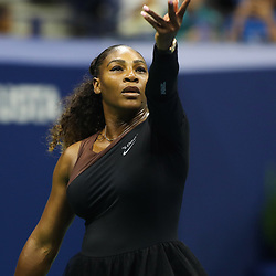 Serena Williams of USA on Day 5 of the 2018 US Open at Flushing Meadows Corona Park on August 31, 2018 in New York City. (Photo byMarek Janikowski/Icon Sport)