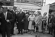 President Eamon de Valera laid the foundation stone of the new Abbey Theatre, on the site of the old theatre which burned down..03.09.1963