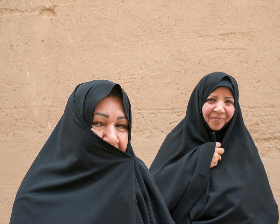 Portrait of women in chador