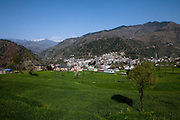 An overview of the town of Chamba, a small town with a population of 20,300 (2001 census), in Chamba Valley, Himachal Pradesh, India in March 2012. Photo by Suzanne Lee/CapaPictures for ALSTOM Hydro.