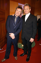 Left to right, JAMIE OLIVER and GORDON RAMSAY at the 2006 British Book Awards held at The Grosvenor House Hotel, Park lane, London on 29th April 2006.<br />