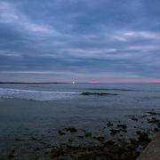 Today's   sunrise at Narragansett Town Beach,  .  April  14, 2013.
