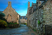 A Small street of Locronan, Finistere, Bretagne, Brittany, France