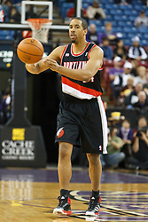 January 19, 2011; Sacramento, CA, USA;  Portland Trail Blazers point guard Andre Miller (24) passes the ball against the Sacramento Kings during the first quarter at the ARCO Arena. Portland defeated Sacramento 94-90 in overtime.