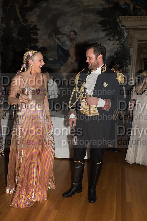 MARGARET CROW; ARTHUR DE BORMAN, Bella Howard 30th birthday, Castle Howard, Dress code: Flower Fairies and Prince Charming, 3 September 2016