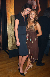 Left to right, Model MARIE DONOHUE and YUKI OSHIMA-WILPON at the Myla Debutantes Coming-Out show held at The Porchester Hall, Porchester Road, London on 31st January 2006.<br />