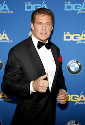 David Hasselhoff at the 69th Annual Directors Guild Of America Awards held at the Beverly Hilton Hotel in Beverly Hills, USA on February 4, 2017.
