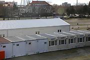 Ludwigshafen. 09.03.17 | BILD- ID 027 |<br /> Messplatz. Seit Oktober 2015 wurden hier Fl&uuml;chtlinge in Notunterk&uuml;nften untergebracht. In Winterfesten Zelten wurden den meist m&auml;nnlichen Fl&uuml;chtlingen eine Unterkunft geboten. <br /> Mittlerweile wurden zwei Zelte und mehrere Container abgebaut.<br /> Bild: Markus Pro&szlig;witz 09MAR17 / masterpress (No Modelrelease!)