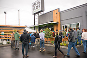 Opening day of Green Zebra Convenient Store in the Kenton neighborhood in Portland, Oregon