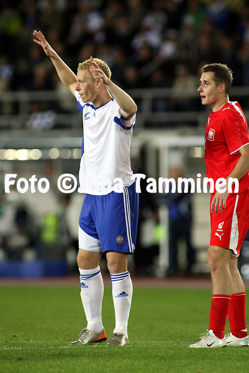 12.09.2007, Olympic Stadium, Helsinki, Finland..UEFA European Championship 2008.Group A Qualifying Match Finland v Poland.Mikael Forssell - Finland.©Juha Tamminen.....ARK:k