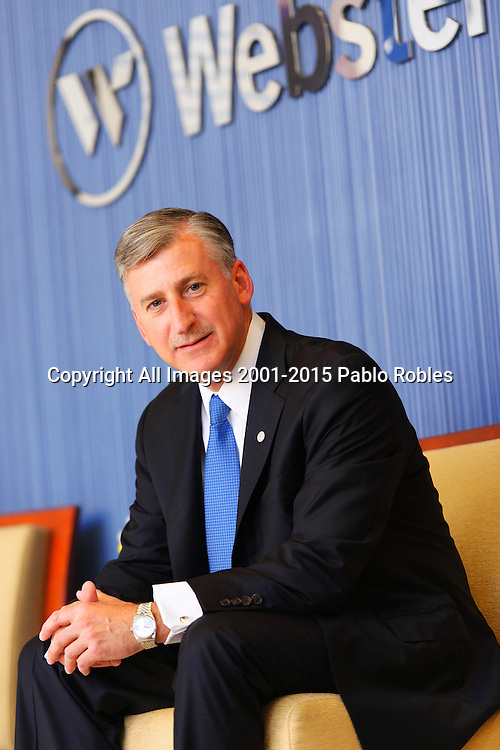 Glenn MacInnes CFO of Webster Bank in Waterbury, CT. Executive, Corporate and CEO Photography done on location using the environment as the background.