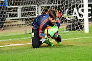 Middlesbrough Goalkeeper Dimitrios Konstantopoulos  during the Sky Bet Championship match between Milton Keynes Dons and Middlesbrough at stadium:mk, Milton Keynes, England on 9 February 2016. Photo by Dennis Goodwin.