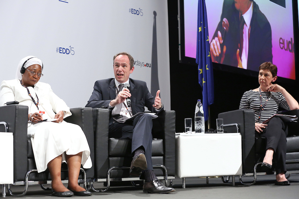03 June 2015 - Belgium - Brussels - European Development Days - EDD - Trade - Trade for inclusive and sustainable growth - Zeinabou Maidah<br /> Chief Executive Officer, NIGER-Lait S.A. - Jean-Christophe Laloux<br /> Director General and Head of Operations - Trudi Hartzenberg , Executive Director , tralac &copy; European Union