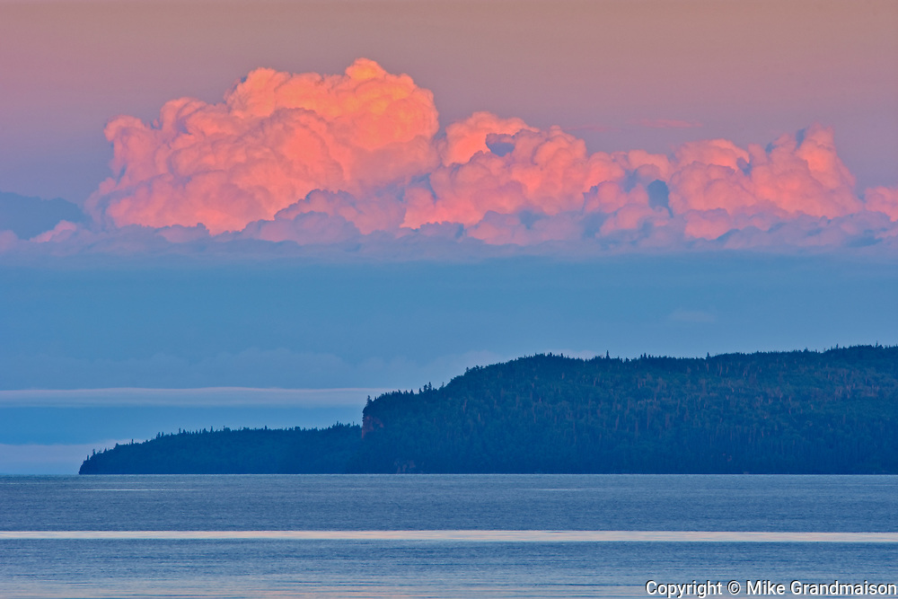 Clouds at sunset over Lake Superior<br />Rossport<br />Ontario<br />Canada