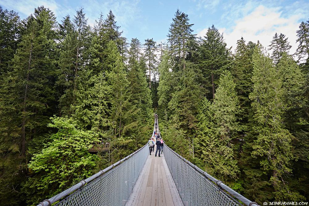 Capilano Suspension Bridge in West Vancouver, British Columbia, Canada.