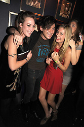 Left to right, LADY TATIANA MOUNTBATTEN, RICHARD DENNEN and MARIA FRERING at the Tatler Magazine Little Black Book party at Tramp, 40 Jermyn Street, London SW1 on 5th November 2008.