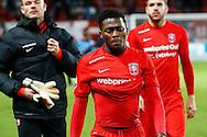 28-11-2015 VOETBAL:FC TWENTE-WILLEM II:ENSCHEDE<br /> Thomas Agyepong van FC Twente teleurgesteld na afloop van de wedstrijd <br /> Foto: Geert van Erven
