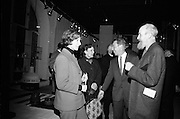 Opening of Kilkenny Design Workshop. Mrs. W. Elliot, Amhaidh; Mrs. Oisin Kelly; W.H. Walshe, chairman; and artist Oisin Kelly..15.11.1965