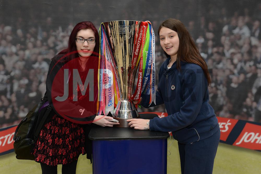 Bristol City fans with the Johnstone Paint Trophy - Photo mandatory by-line: Dougie Allward/JMP - Mobile: 07966 386802 - 11/03/2015 - SPORT - Football - Bristol - Cabot Circus Shopping Centre - Johnstone's Paint Trophy
