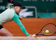 Bethanie Mattek - Sands of USA competes in women's single while Day Fifth during The French Open 2013 at Roland Garros Tennis Club in Paris, France.<br />