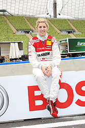 Rahel Frey / DTM Fahrer - Media-Trackwalk zum DTM-Show-Event im Olympiastadion // during the DTM Show ,  on 2011/07/15, Olympia Stadion, Munich, Germany, EXPA Pictures © 2011, PhotoCredit: EXPA/ nph/  Schmitt       ****** out of GER / CRO  / BEL ******