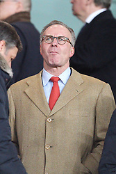 19.02.2014, Emirates Stadion, London, ESP, UEFA CL, FC Arsenal vs FC Bayern Muenchen, Achtelfinale, im Bild Vorstandsvorsitzender Karl-Heinz RUMMENIGGE (FC Bayern Muenchen) // during the UEFA Champions League Round of 16 match between FC Arsenal and FC Bayern Munich at the Emirates Stadion in London, Great Britain on 2014/02/19. EXPA Pictures © 2014, PhotoCredit: EXPA/ Eibner-Pressefoto/ Kolbert<br /> <br /> *****ATTENTION - OUT of GER*****
